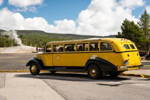 Yellow Bus - Yellowstone NP