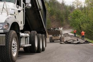 Lone Ridge Drive - Old Asphalt Removal