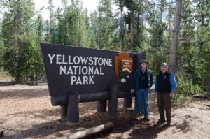 Frank and Bill at Yellowstone NP - 2013