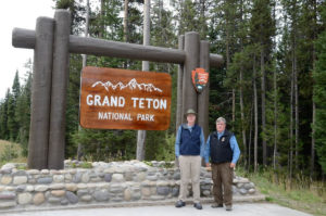 Frank and Bill at Grand Teton NP - 2013
