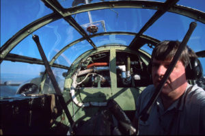 Frank in a B-25 bomber